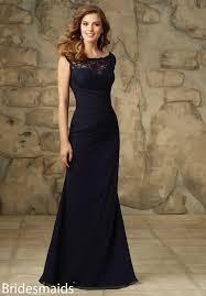 unique cap sleeves v back dark navy chiffon long bridesmaid dress