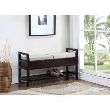 vannes espresso storage shoe bench free shipping today