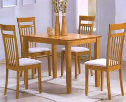 Madeira White Lacquer Dining Set - Beech kitchen table