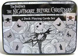 set of 2 decks of nightmare before cards b w