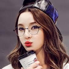 hairstyles glasses round faces 2016 korean fashion glasses frames plain mirror lens round face