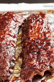 cranberry bbq saucy ribs chew out loud