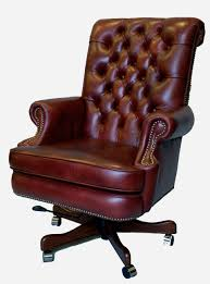 Desk Chair Leather Design Ideas Furniture Cool Brown Frosted Laminated Leather Tufted Office