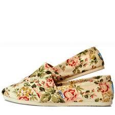 цветочные нежные женские слипоны toms shabby chic обувь для лета