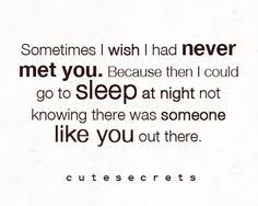 sometimes i wish i had never met you quotes and saying image