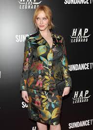 christina hendricks attends the u0027hap and leonard u0027 new york