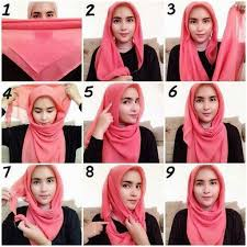 tutorial jilbab segi 4 untuk kebaya contoh tutorial hijab segi empat kreasi terbaru 2017 2018
