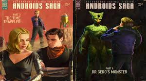 book cover dragon ball androids android 18 android 17