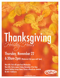wisconsin athletic club calendar event thanksgiving hours