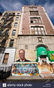 graffiti portrait of the civil rights leader malcolm x in harlem