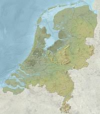 netherlands height map geography of the european netherlands