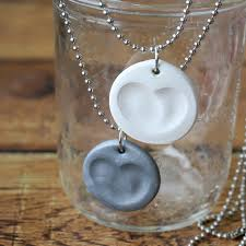 making silver necklace images Make a pretty fingerprint necklace in minutes diy gift idea jpg