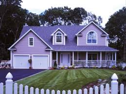 purple color house home design