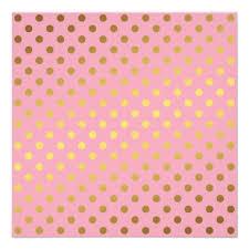 pink faux gold foil polka dots pattern invitation ladyprints