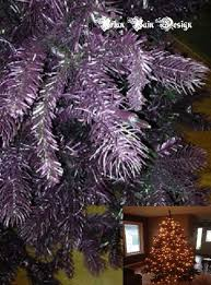 painting a artificial tree purple 5 steps