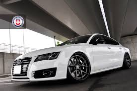slammed audi a7 audi a7 with hre s101 in satin charcoal3 jpg