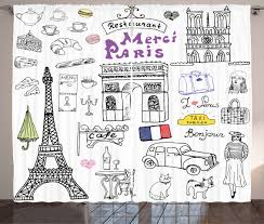Eiffel Tower Window Curtains by Curtains Drapes U0026 Valances