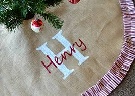 personalized tree skirt gorgeous personalized christmas tree skirts add christmas spirit
