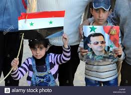 Rebel Syrian Flag 170419 Damascus April 19 2017 Xinhua Syrians Hold A