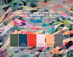 pantone spring summer 2017 springsummer 2017 trend forecasting is a trend color guide that