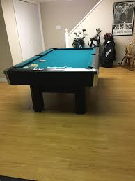 imperial sharpshooter pool table 7 brunswick billiards black beauty 3 piece slate sold used pool