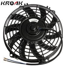 electric radiator fans 9 inch 12v 80w slim reversible electric radiator fan push