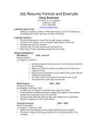 Sample Of Great Resume Format Sample Resume Format For Job
