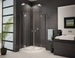 Dark Bathroom Ideas Glass Shower Enclosure And Dark Tile Design Ideas Www Bathroom