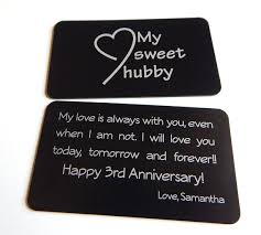 3rd wedding anniversary gift 3rd wedding anniversary gift to my husband gift from to