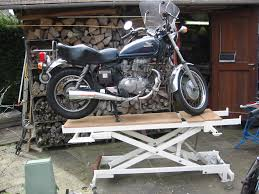 motorcycle lift table plans complete homemade wood motorcycle lift shop for plan