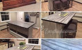kitchen island made from a dresser interior design