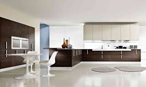 modern kitchen design with l shaped brown finish mahogany kitchen in