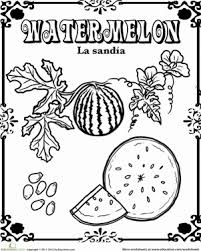 watermelon in spanish spanish spanish worksheets and worksheets