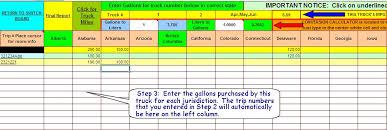 Trucking Spreadsheet Ifta Fuel Tax Software Excel Spreadsheet For Truckers