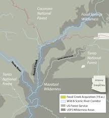 Payson Arizona Map by Fossil Creek Arizona Western Rivers Conservancy