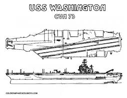 Coloriage Porte Avion USS Washington dessin gratuit à imprimer