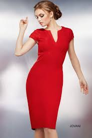this jovani 26564 red fitted dress will make you look fiery