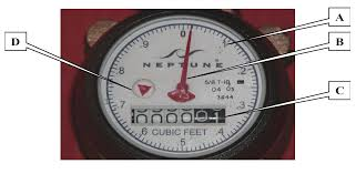 Feet In A Meter by How To Read Your Meter Enumclaw Wa Official Website