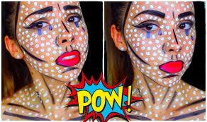 pop art comic book makeup tutorial youtube