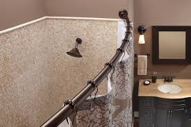 Curtain Rod Ideas Decor Bathroom Decorative Curved Shower Curtain Rod For Bathroom Decor