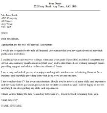 assistant financial accountant cover letter assistant financial
