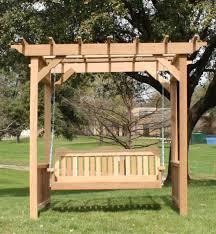 garden cedar pergola swing u2014 optimizing home decor ideas