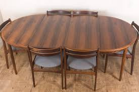 vintage retro danish rosewood dining table and 6 chairs vinterior