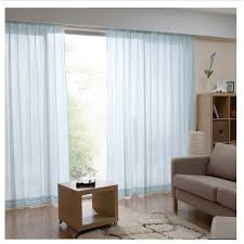long living room curtains living room and bedroom 2 panels light blue sheer curtains light