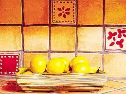 Red Tile Backsplash - rustic subway tile backsplash kitchens with rustic themed