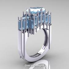 emerald cut rings images Gothic 14k white gold 2 62 ct emerald cut 4 0 ct baguette cut jpg