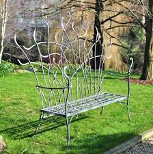 Wrought Iron Mesh Patio Furniture by Black Wrought Iron Garden Bench Benches Wrought Iron Bench Seat