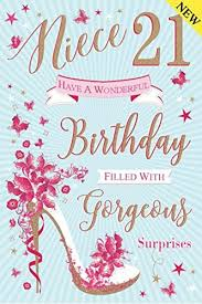 to a special niece 21st birthday card amazon co uk kitchen u0026 home