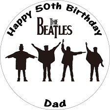 beatles cake toppers the beatles help black white cake topper