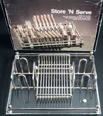 silverware caddy mikasa hayden 36pc flatware set wood caddy chest